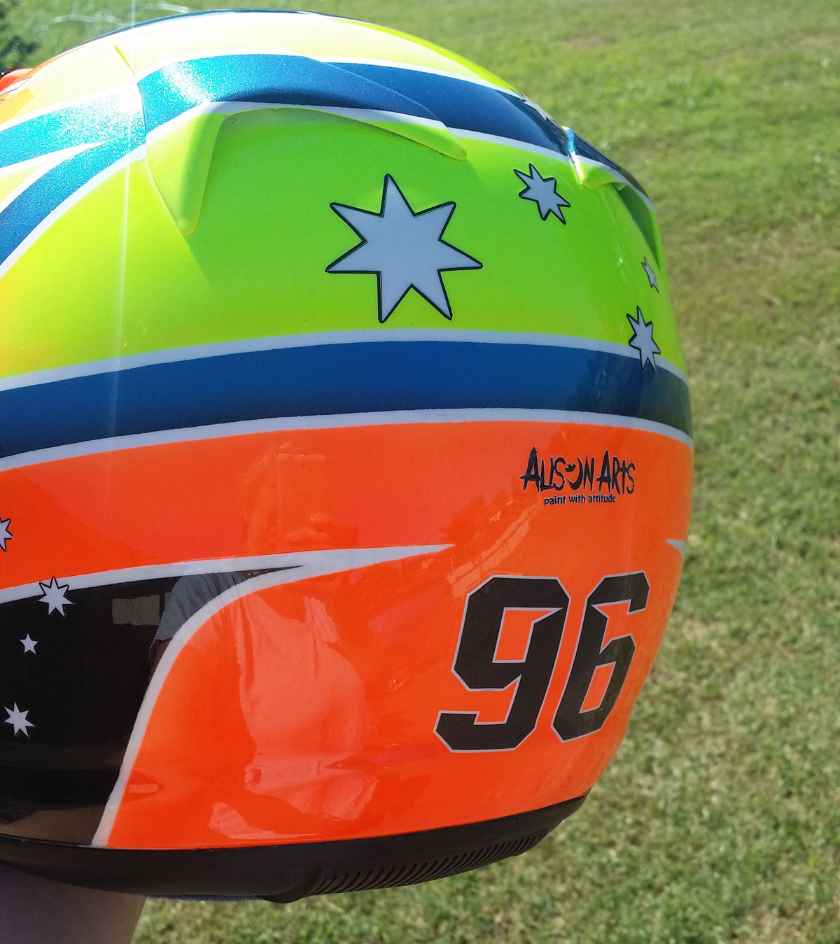 Custom airbrushed Arai helmet
