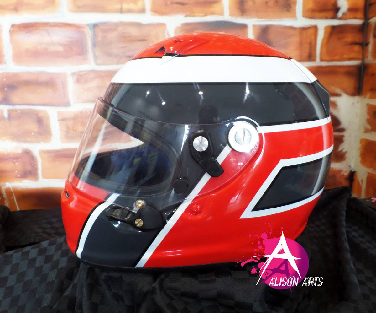 airbrushed Aria helmet