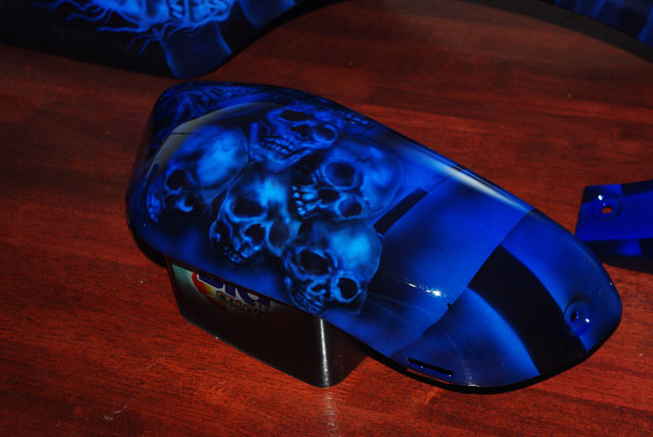 airbrushed grim reaper on suzuki