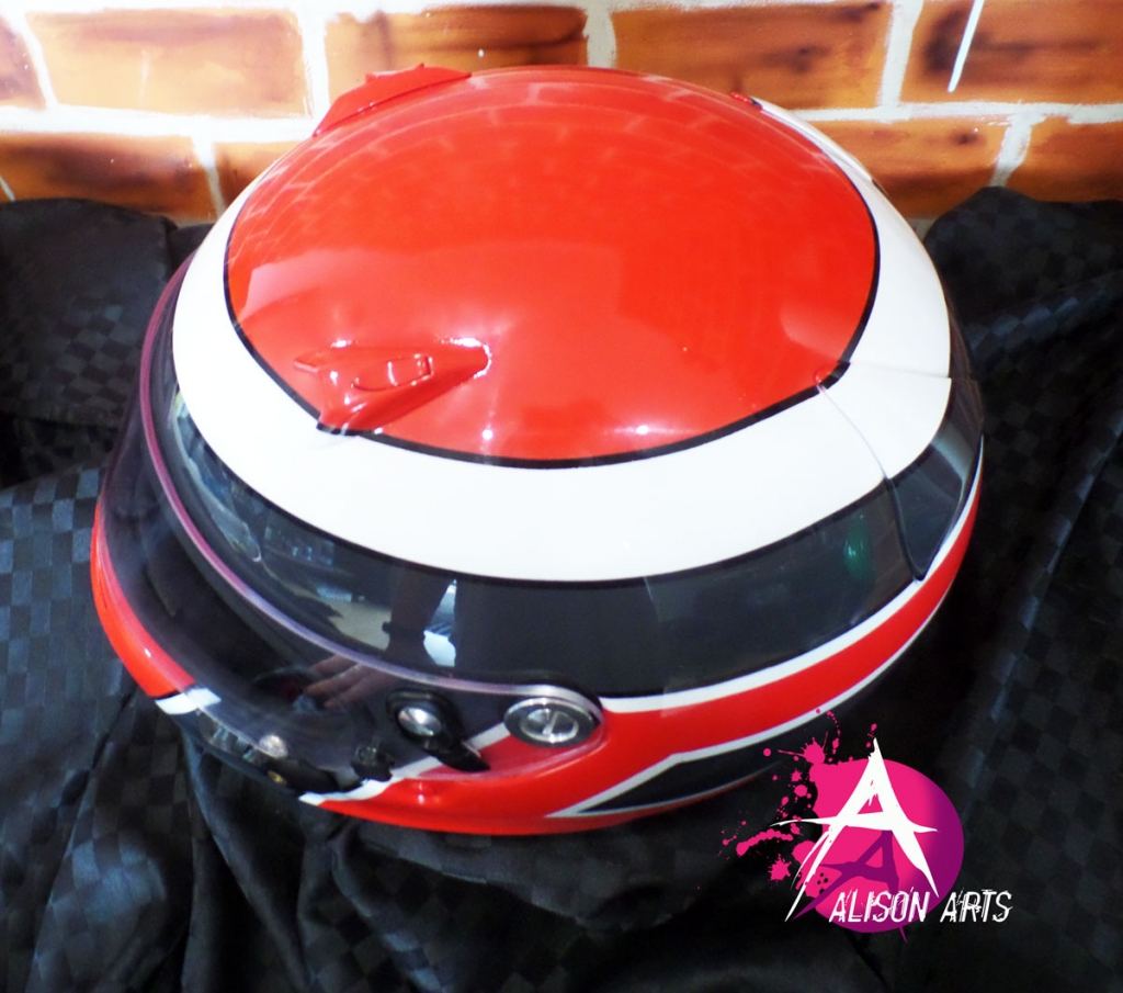Custom gokart helmet - old school