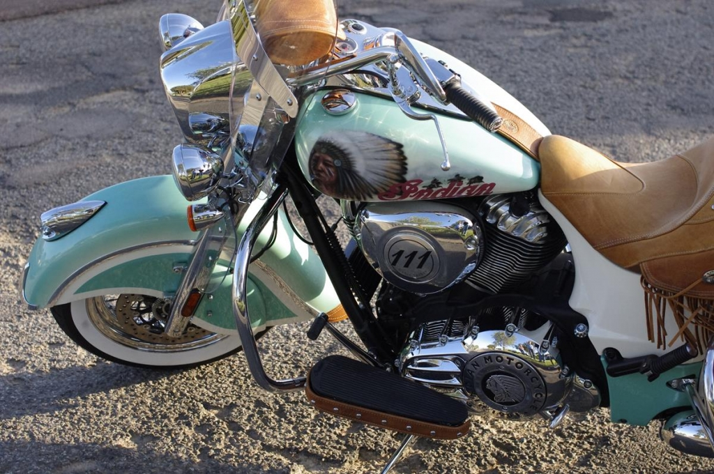 custom airbrushed Indian motorcycle