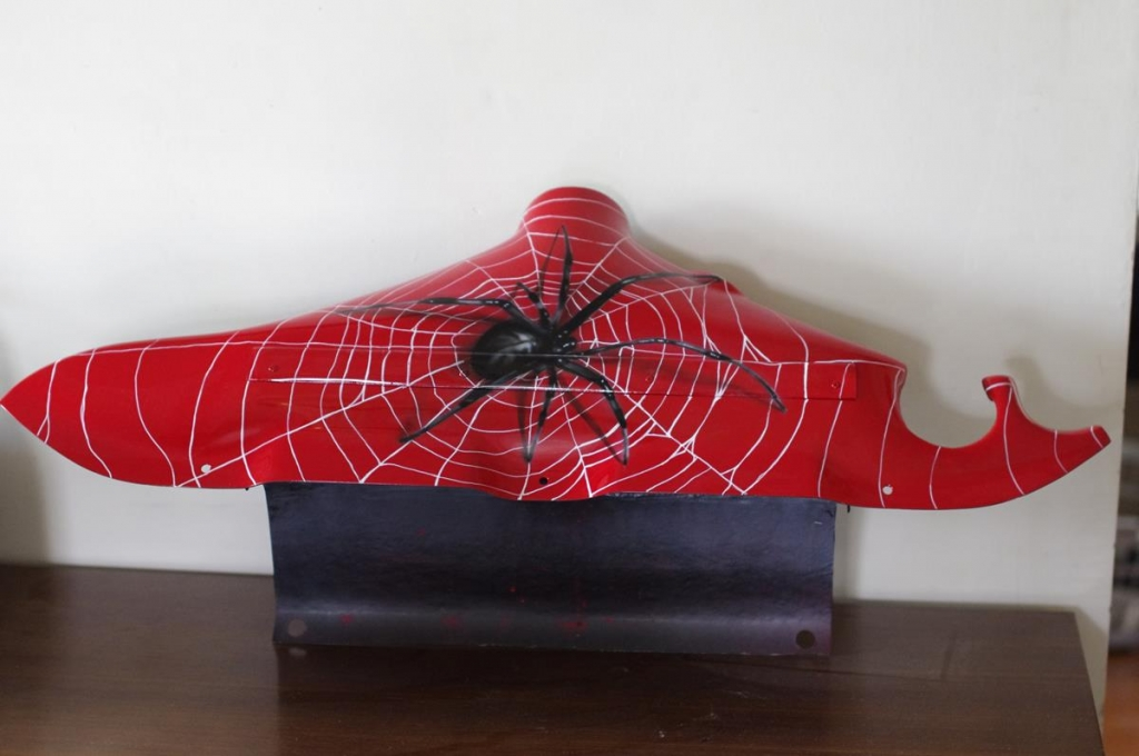 Custom airbrushed spider