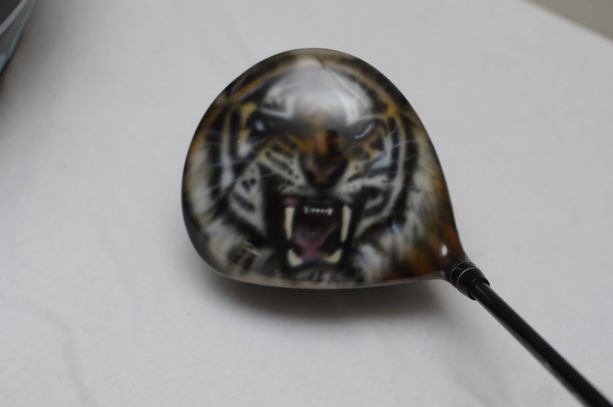 custom painted golf driver