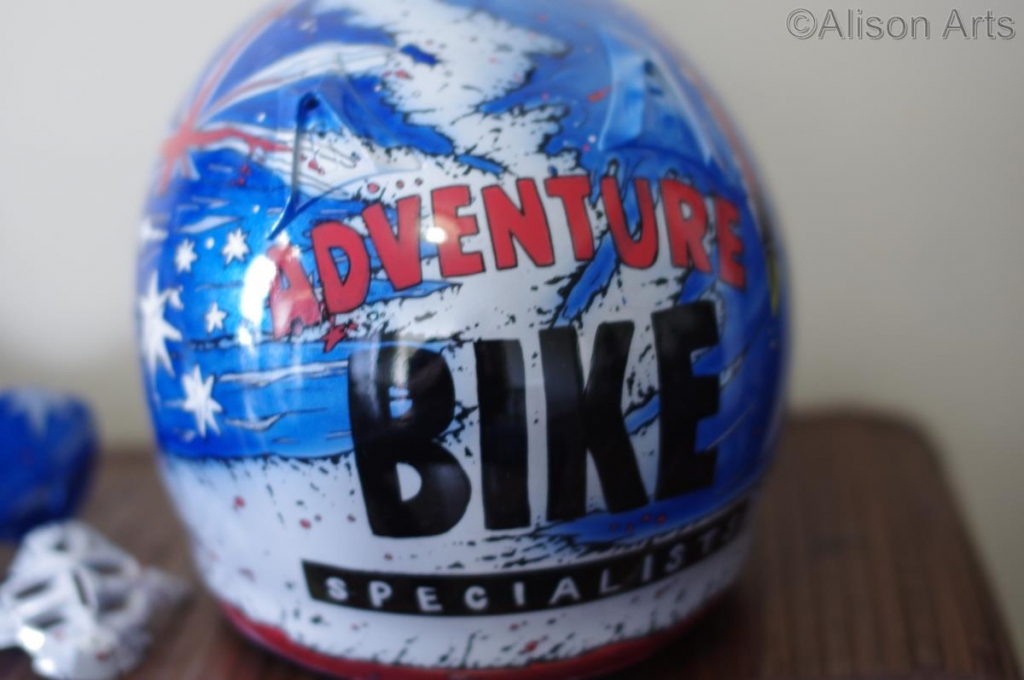 Custom adventure bike helmet