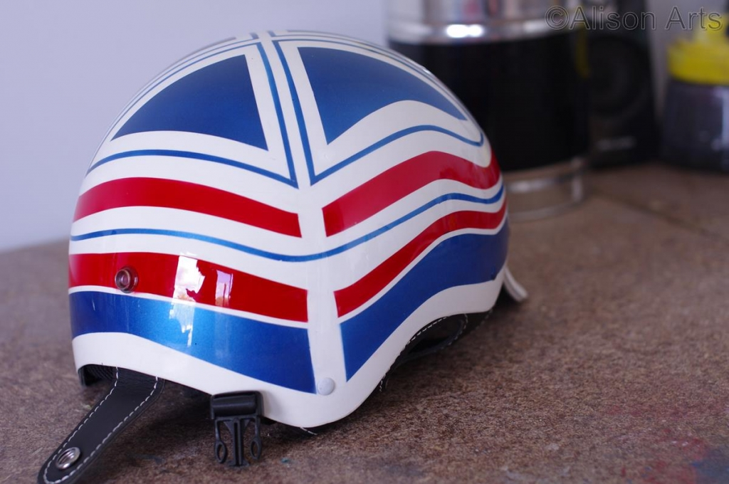 Custom airbrushed helmet