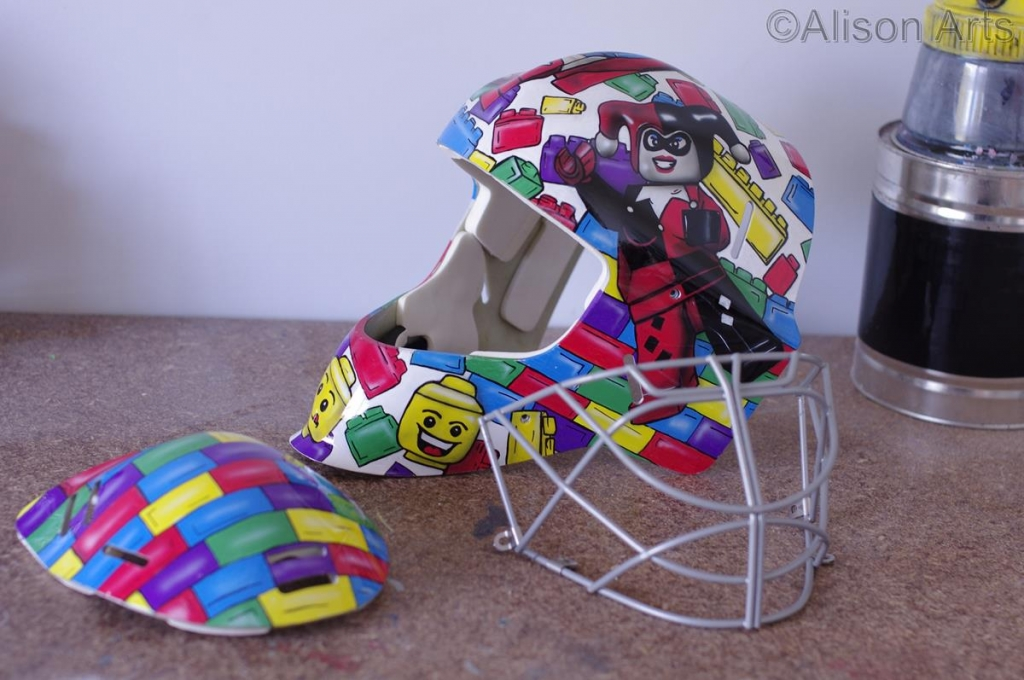 Custom painted ice hockey mask
