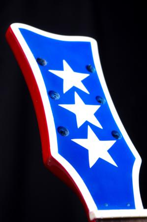 airbrushed stars and stripes guitar