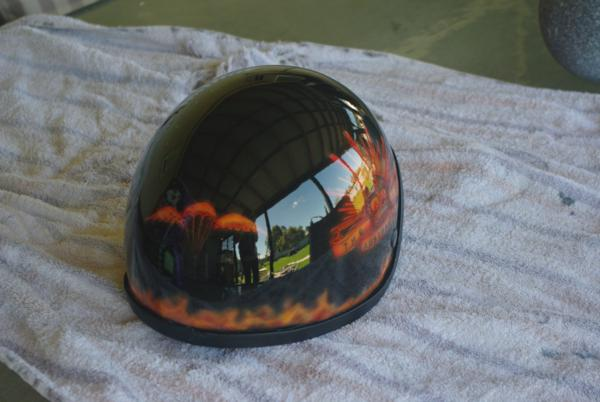 Custom painted army helmet