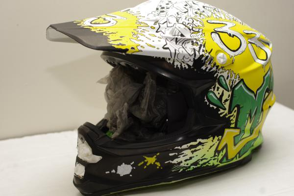 custom airbrushed motorcross Helmet- graffiti design