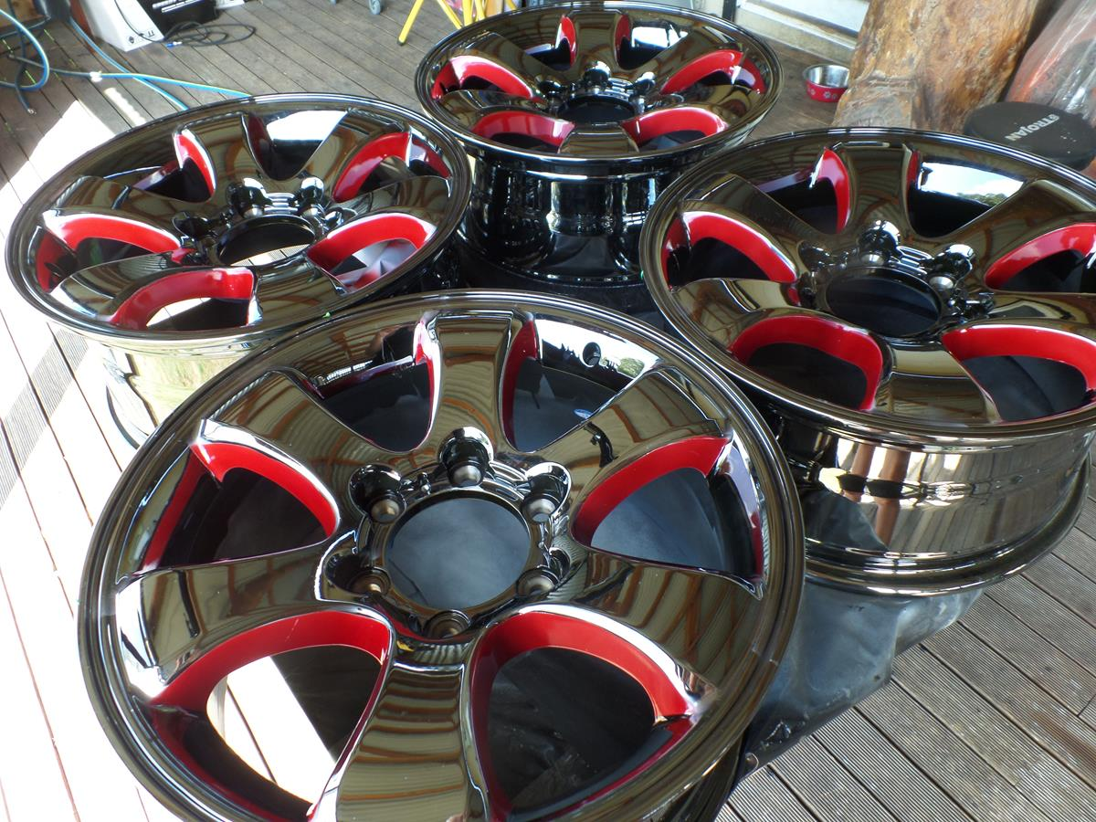 custom painted car wheel rims