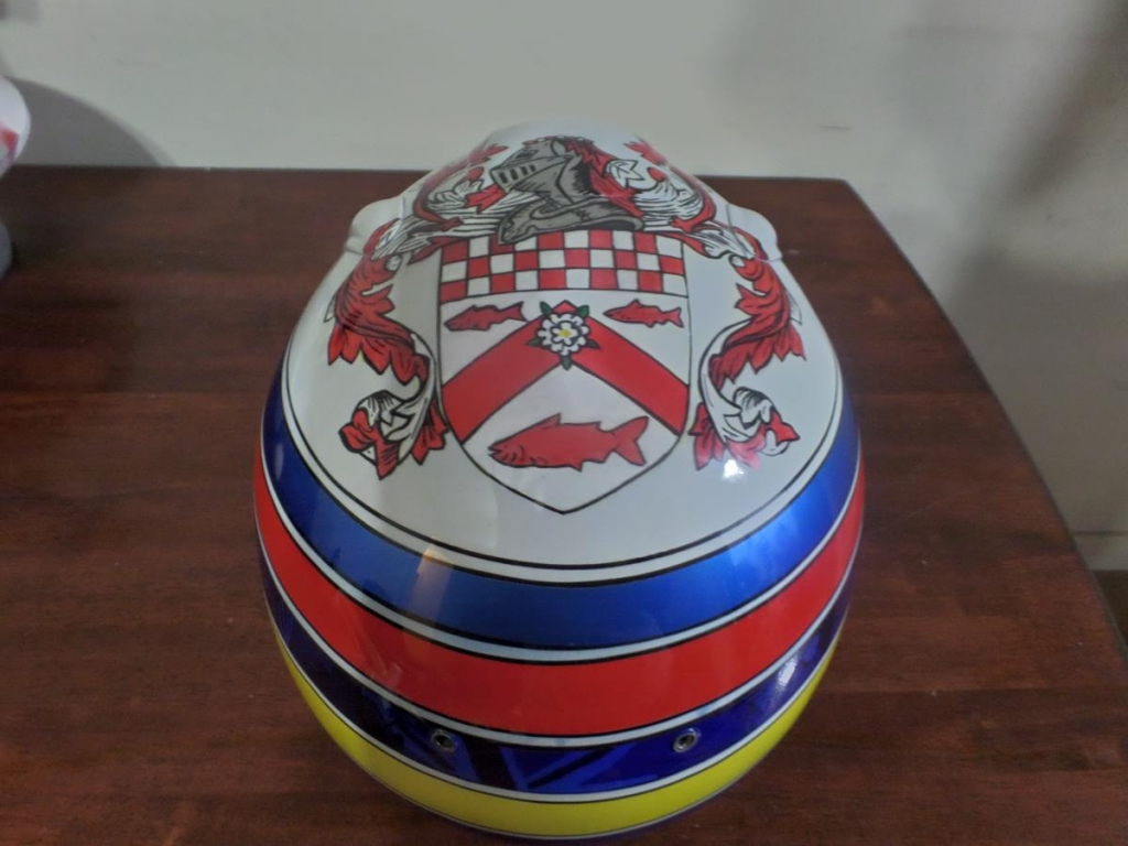 Grand Prix helmet for Nick McBride