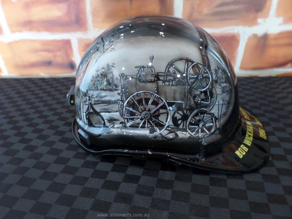 Fine art custom hardhat