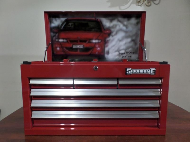 custom painted toolbox