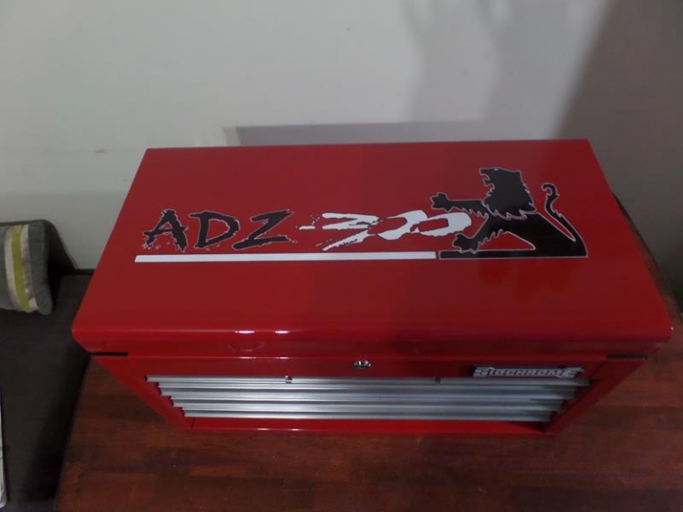 custom painted toolbox lid