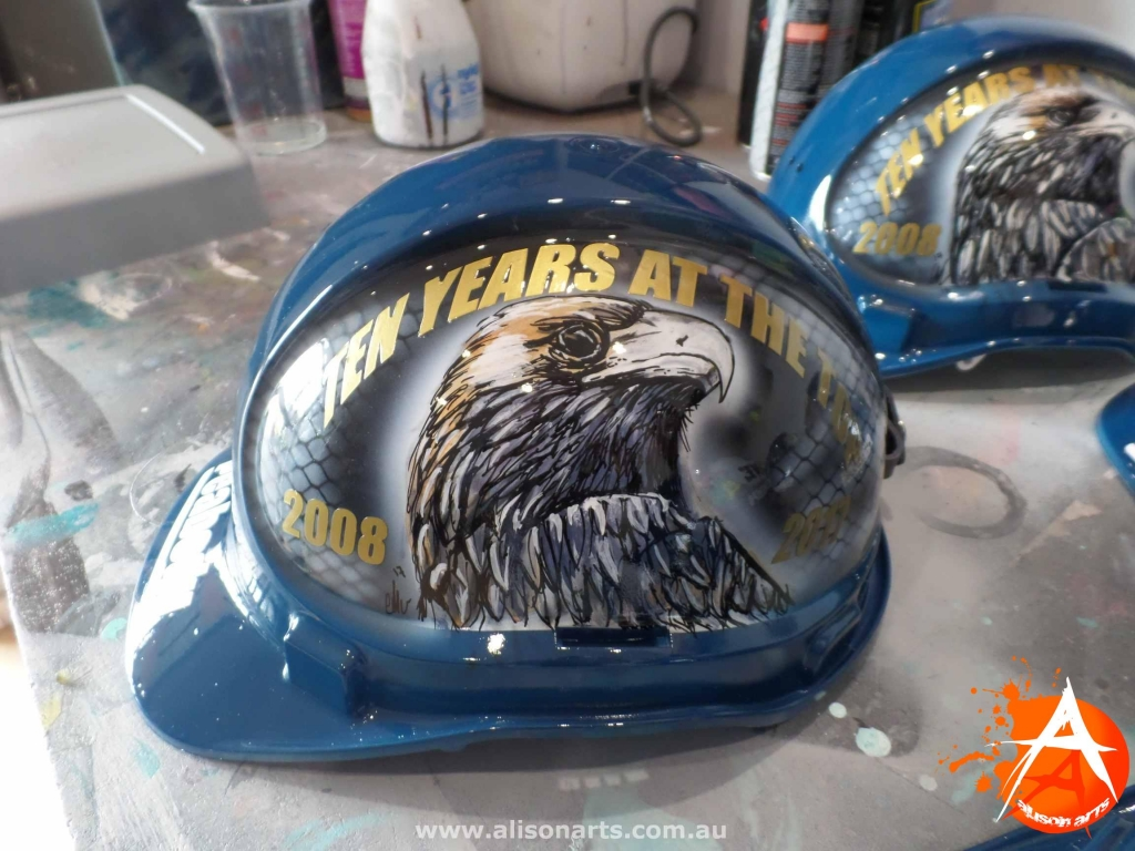 custom painted hard hat