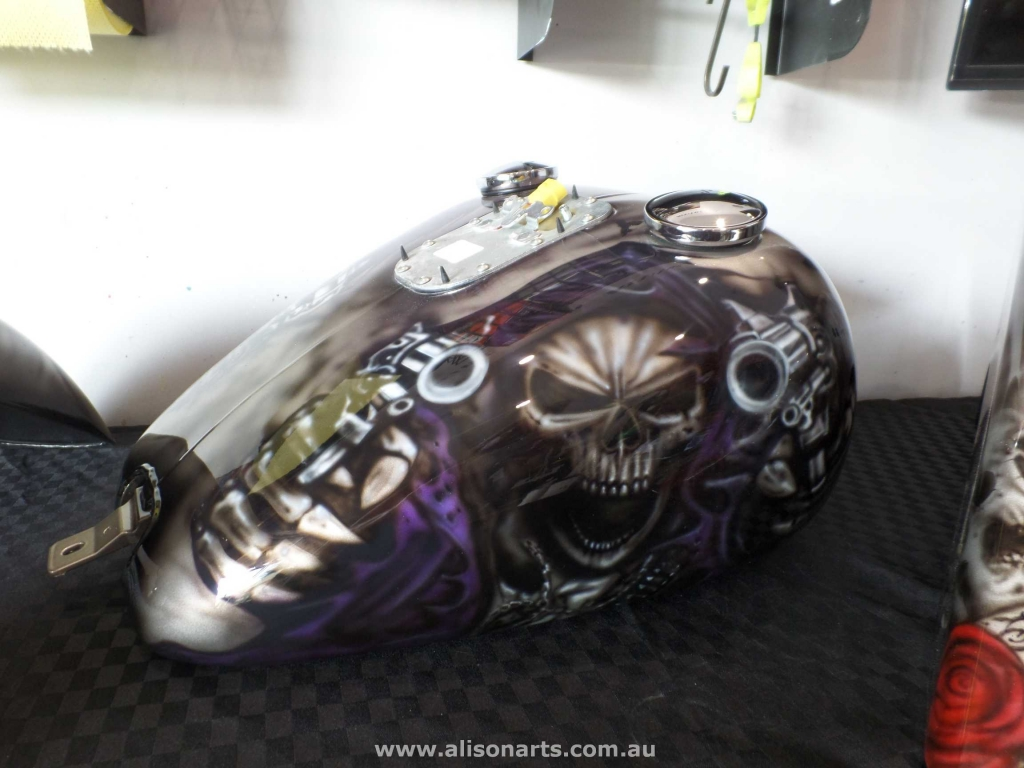 Airbrushed Harley fatboy