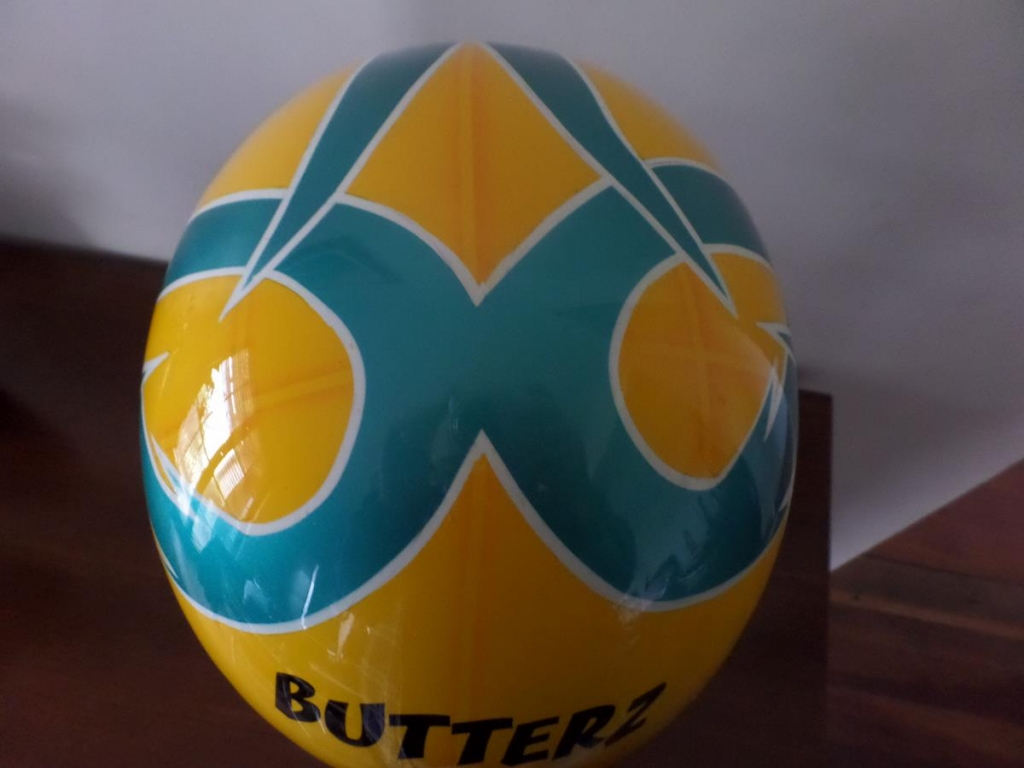 custom airbrushed Harness racing helmet