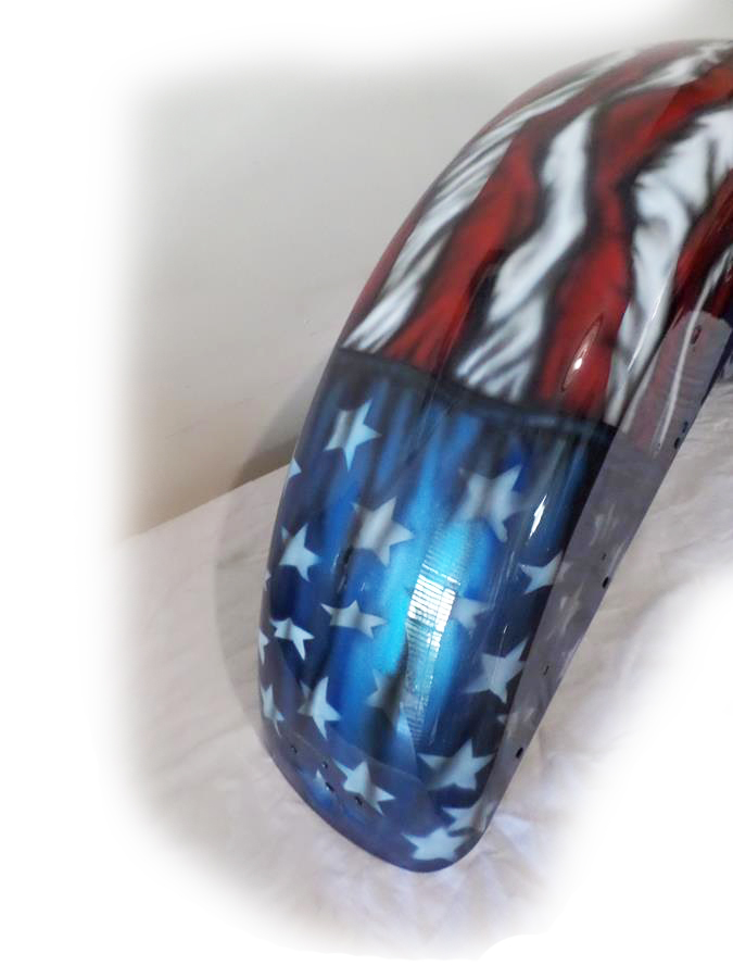 American flag themed Harley guard