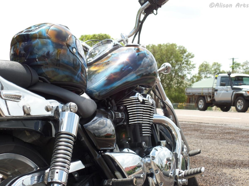 Airbrushed Triumph Thunder bird
