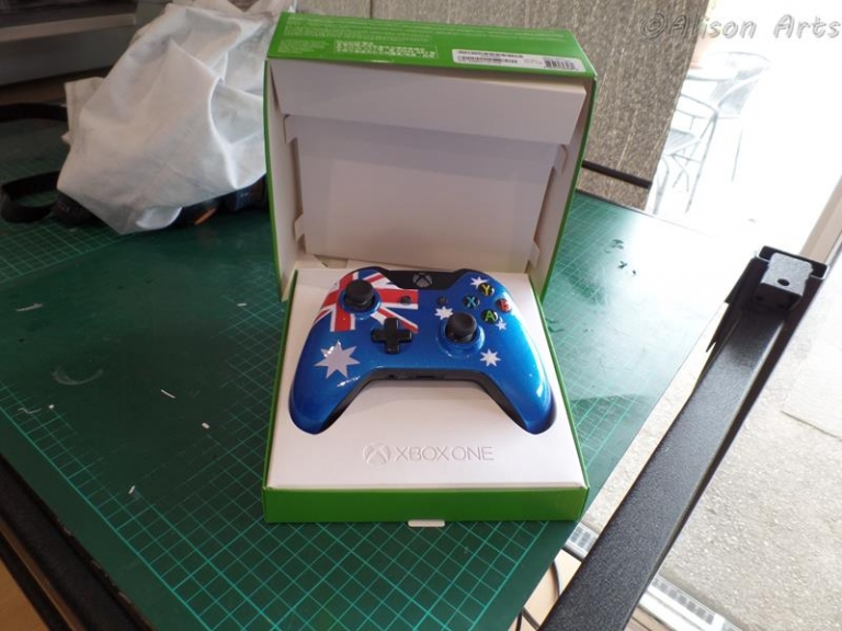 custom airbrushed xbox one controller
