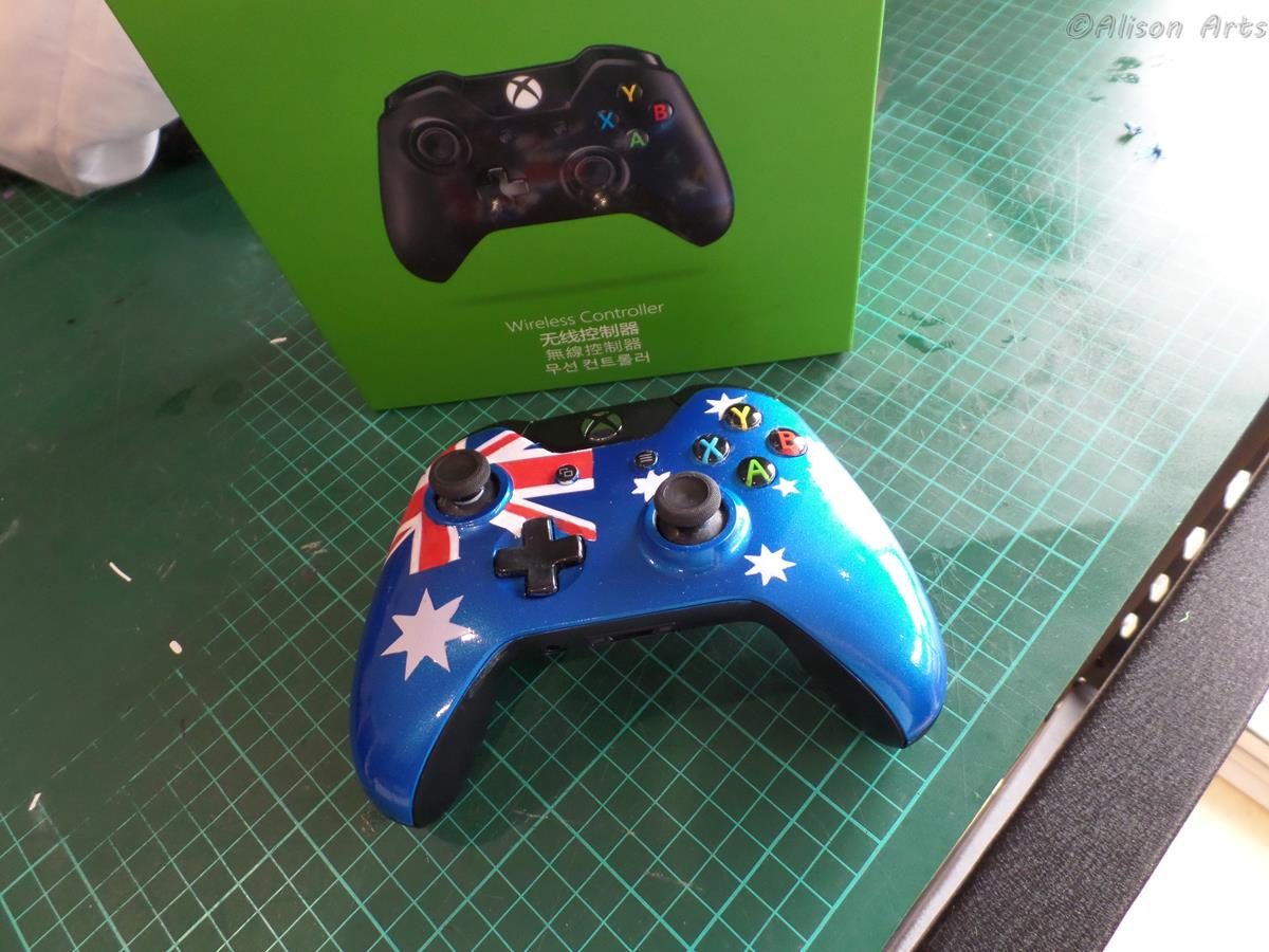 Aussie airbrushed xbox one controller