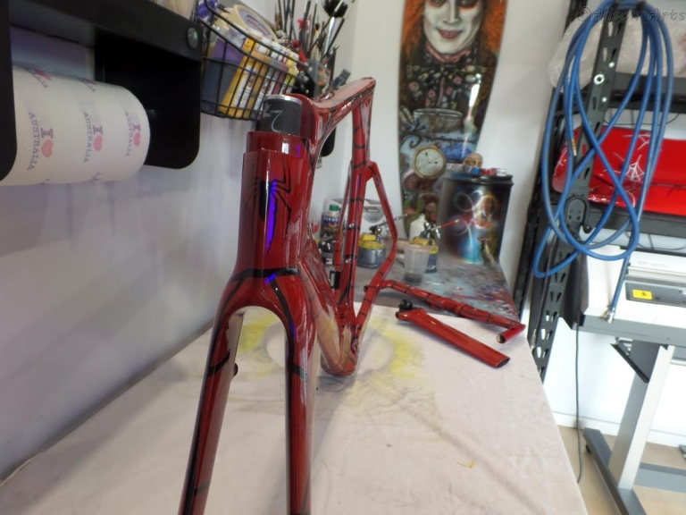 Trial bike airbrushed