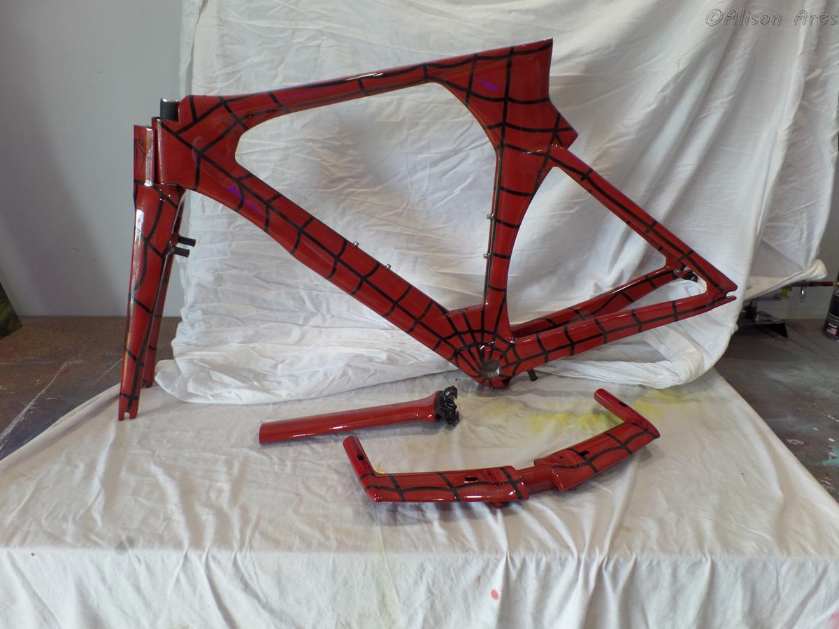 Carbon fibre frame - airbrushed