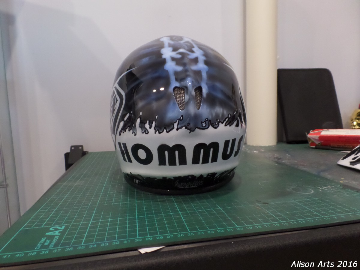 custom painted mtb helmet
