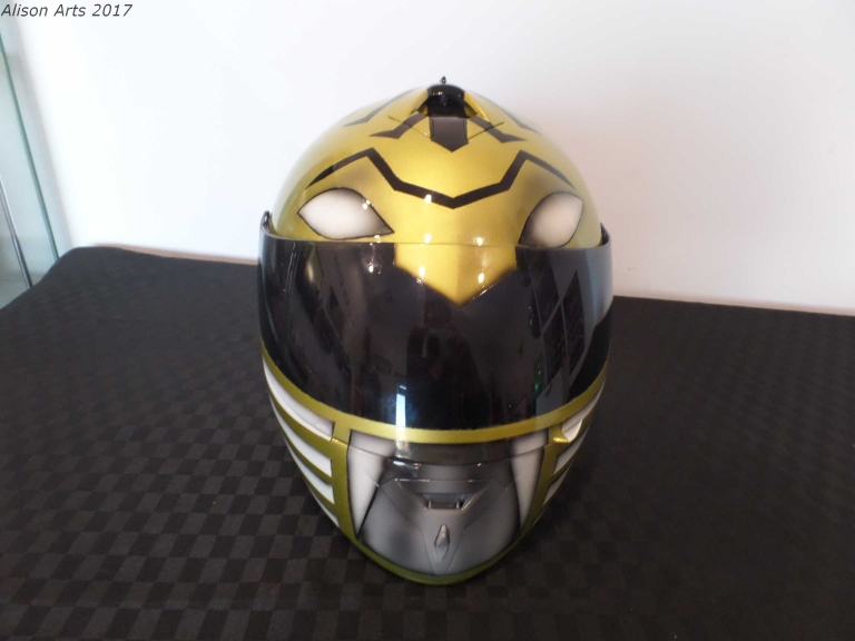 Airbrushed power ranger motorcycle helmet