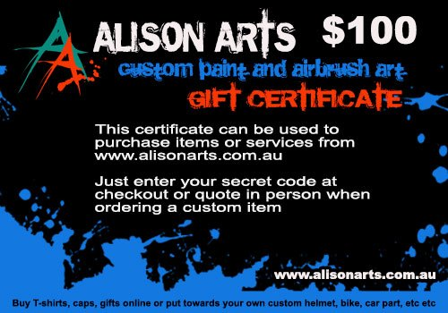 custom airbrushing giftcard