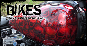 Custom Painted Bikes Gallery