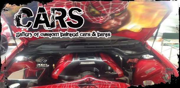 Custom paint and airbrushing on cars, car parts and engine covers