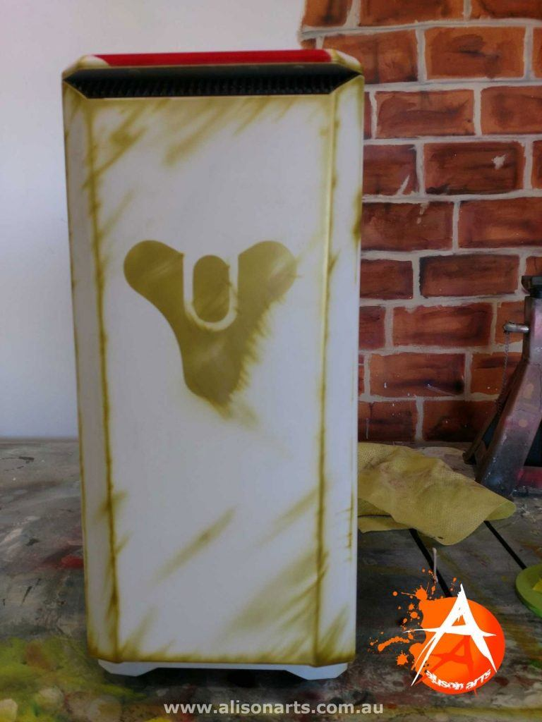 Airbrushed PC Case, destiny