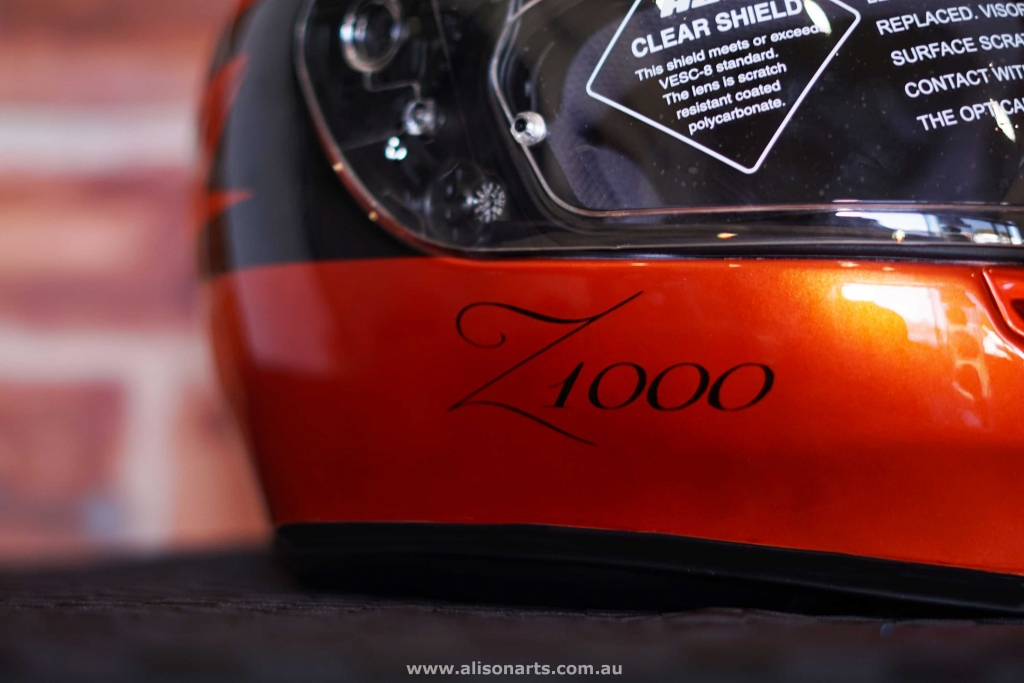Custom airbrushed helmet- z1000 design