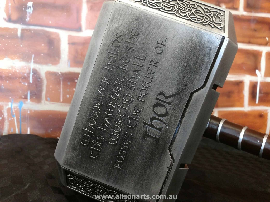 airbrushed Thor Hammer