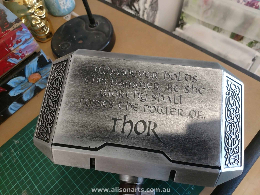 Customised hammer Thor