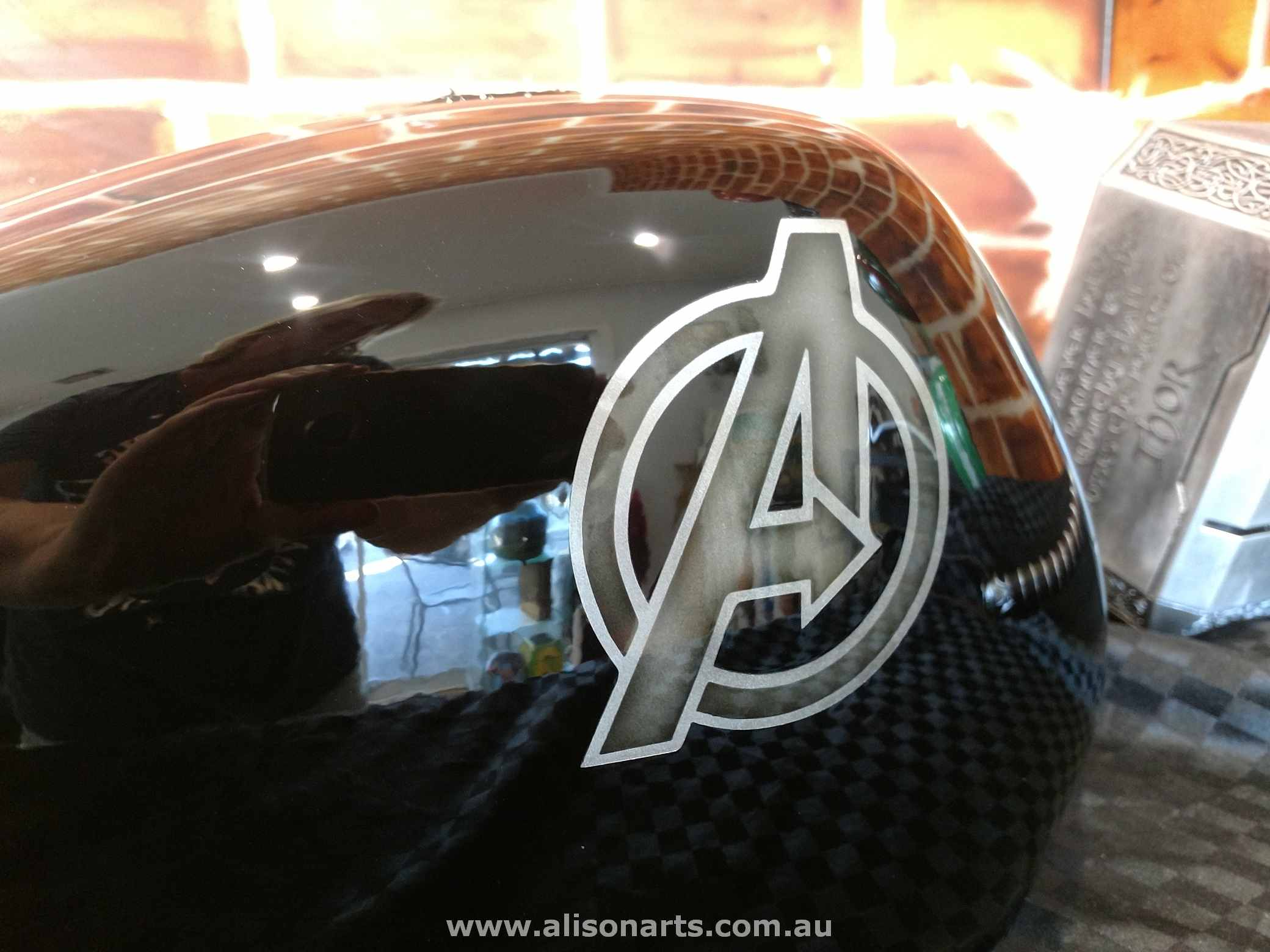 avengers custom painted motorcycle