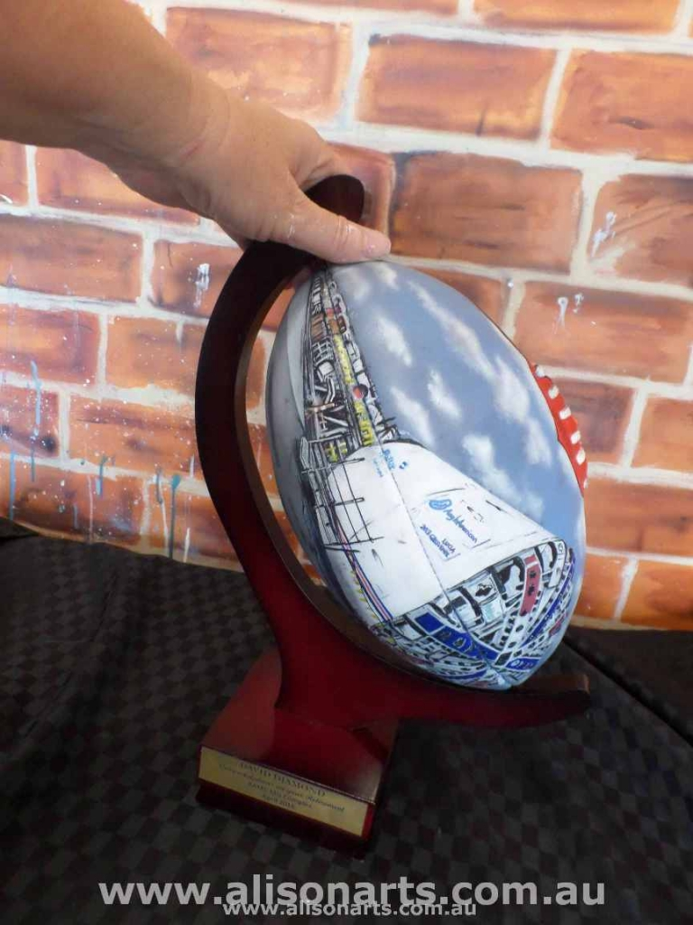 Airbrushed AFL ball