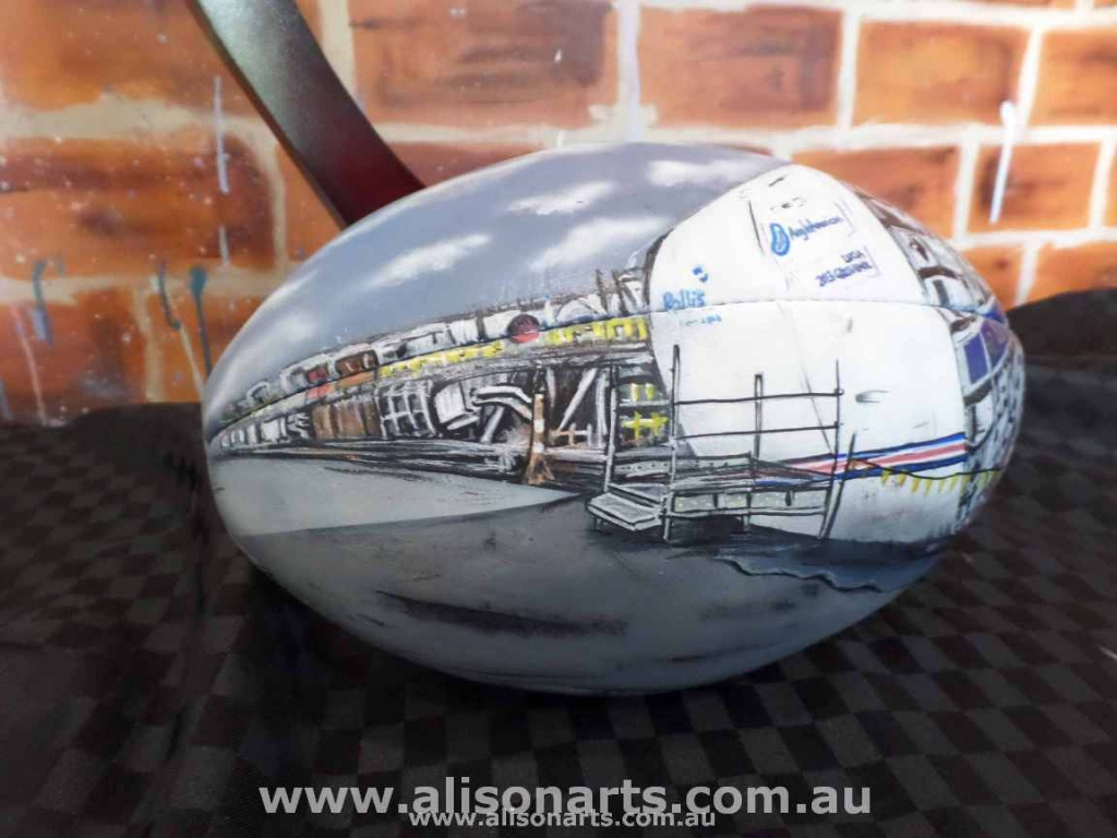 aibrushed afl ball