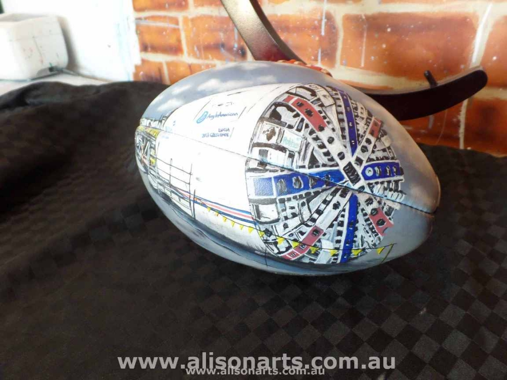 custom painted AFL football