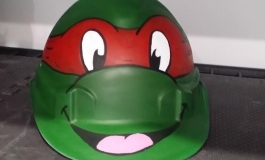 custom airbrushed hardhat