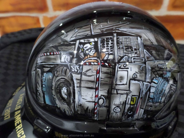 airbrushed hard hat
