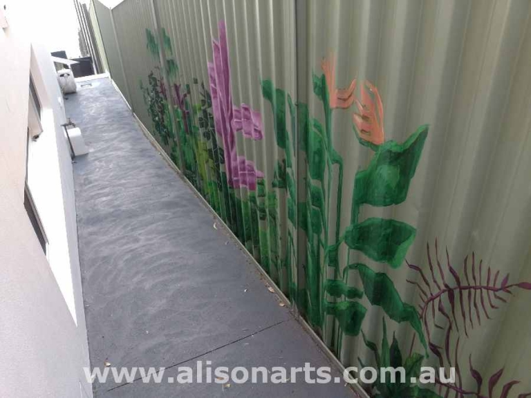 custom painted fence mural