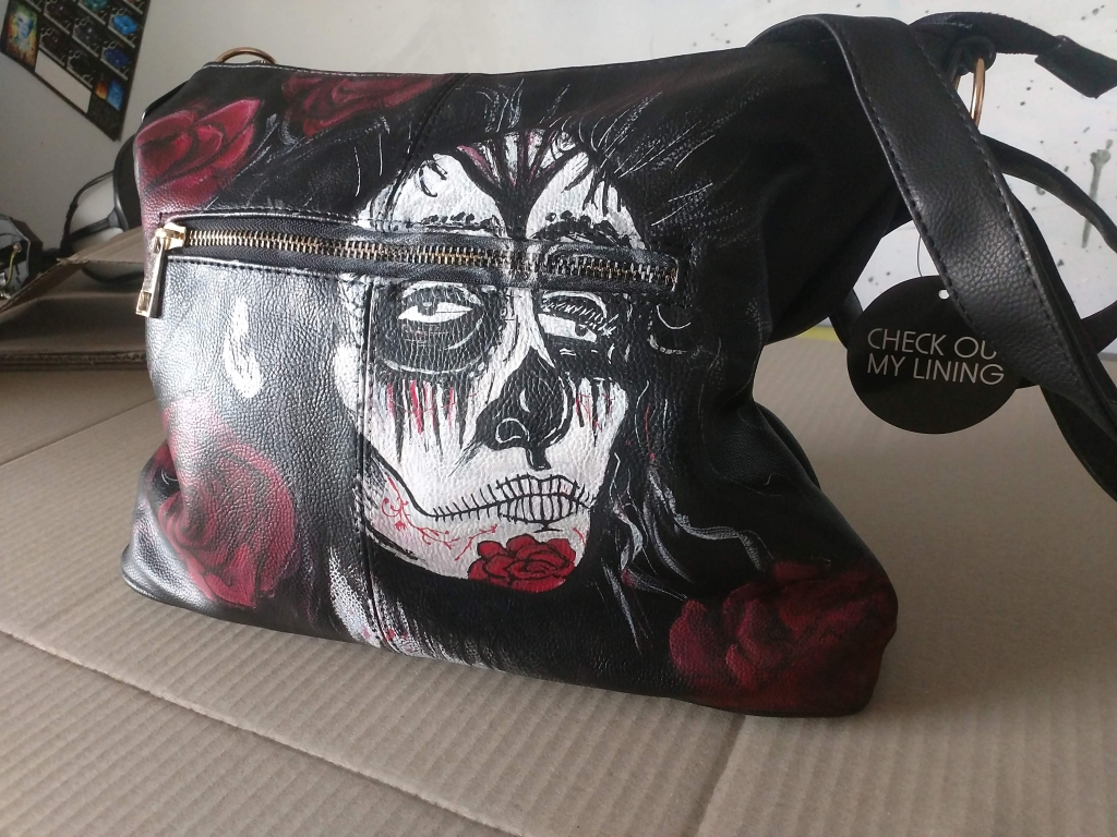 Airbrushed handbag