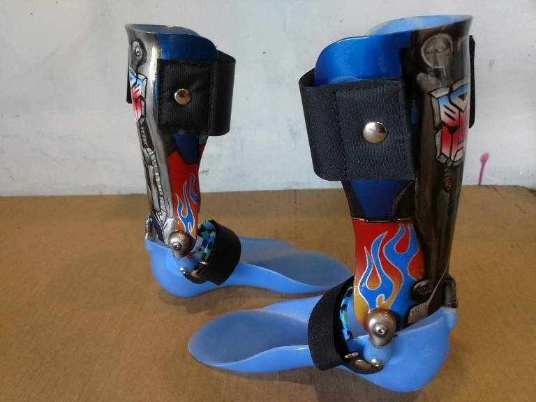 Airbrushed AFO boots