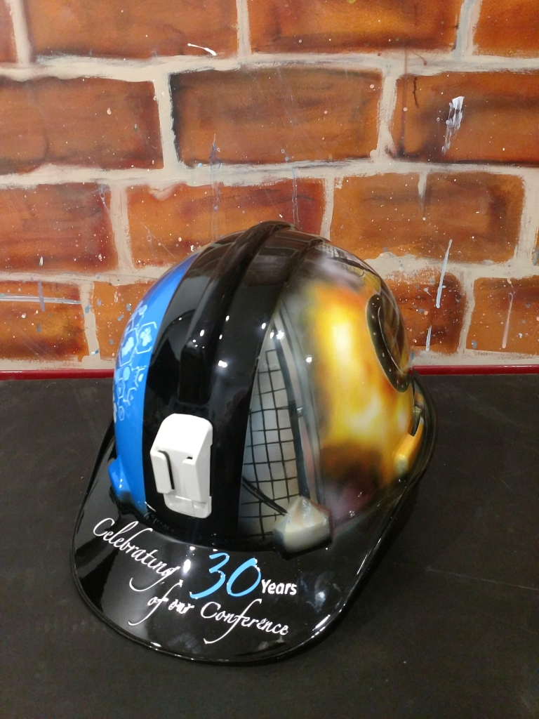 custom painted hard hats artwork for your head competitions