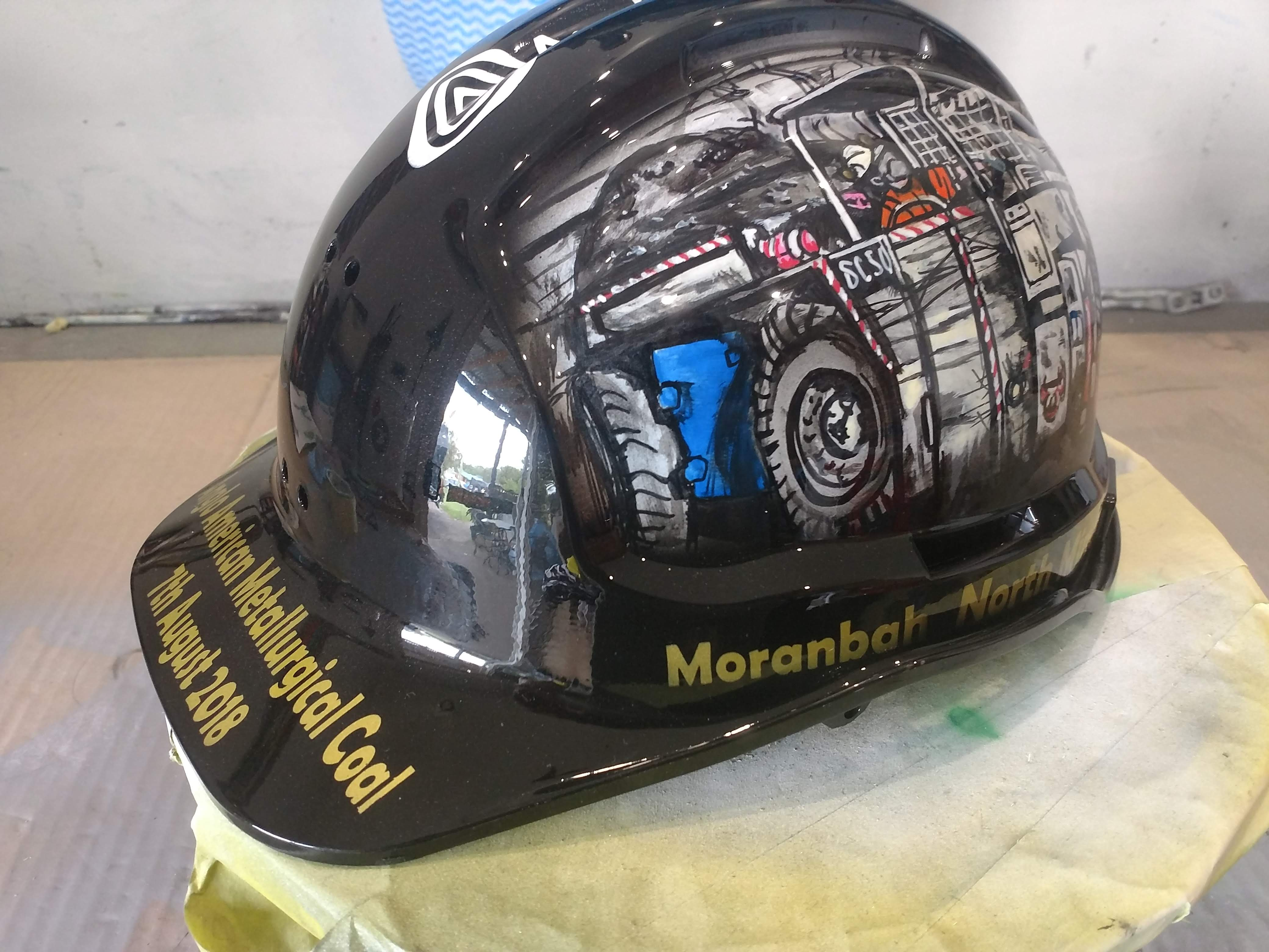 custom painted miners hard hat