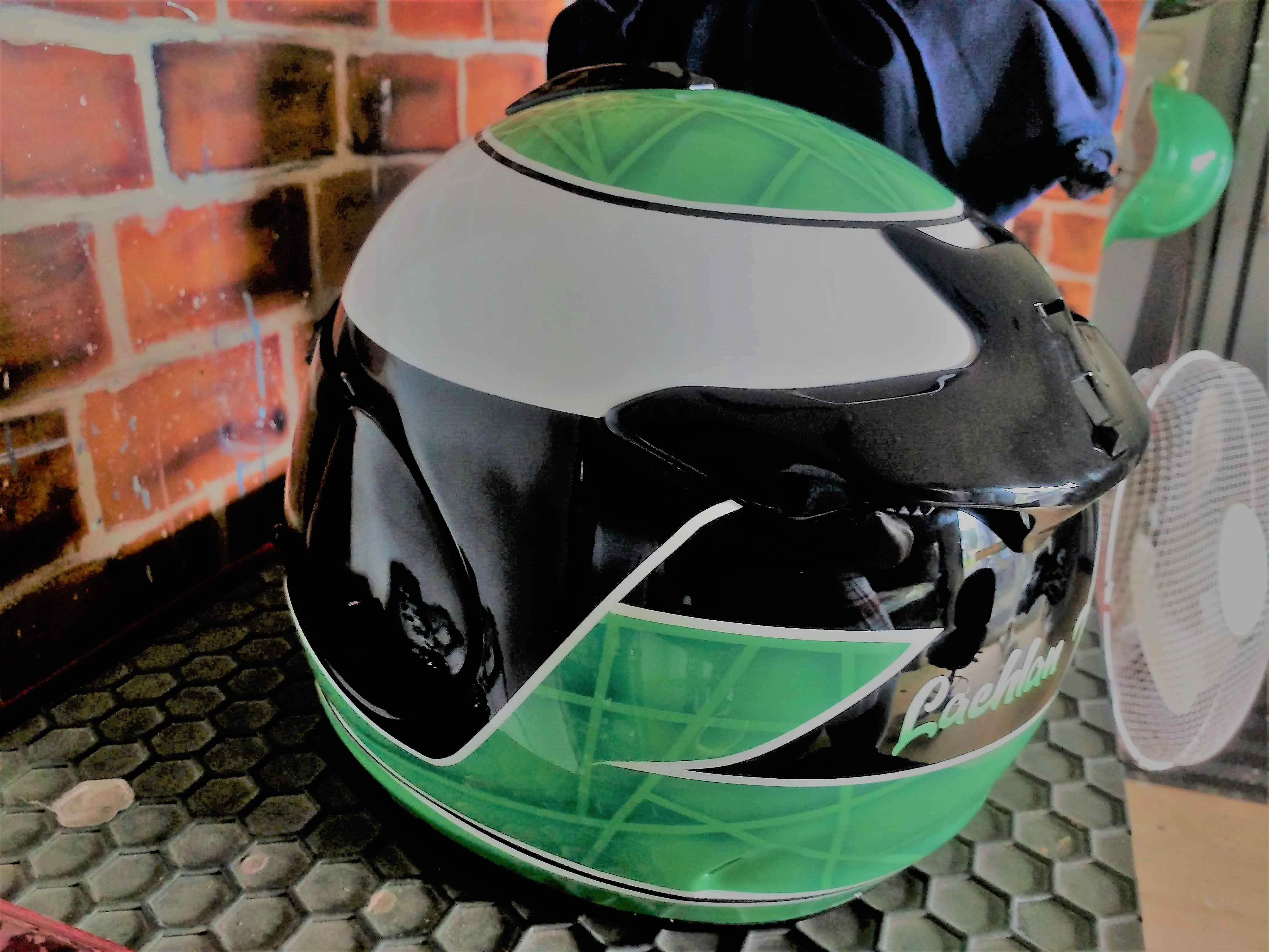 custom airbrushed arai motorcycle helmet