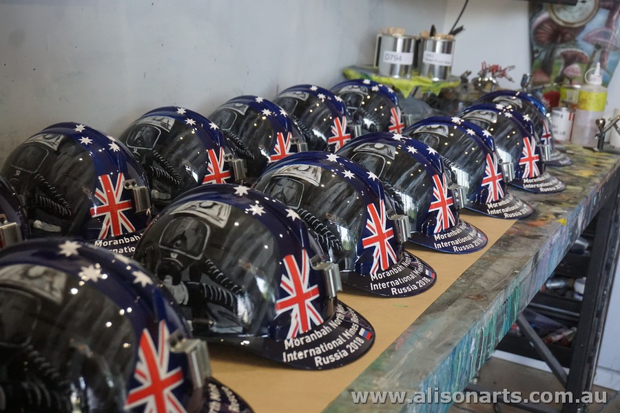 custom painted hard hats
