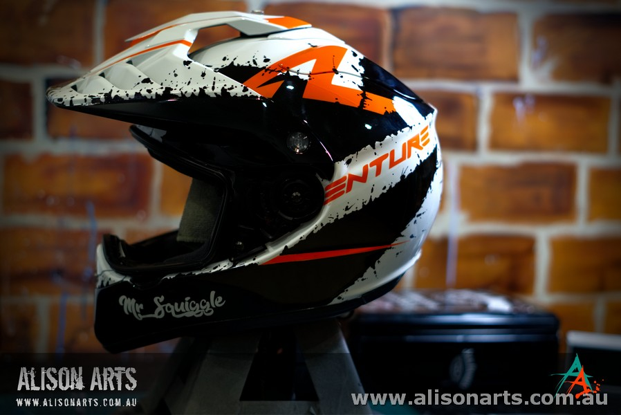 Custom airbrush painted KTM 1190 Helmet